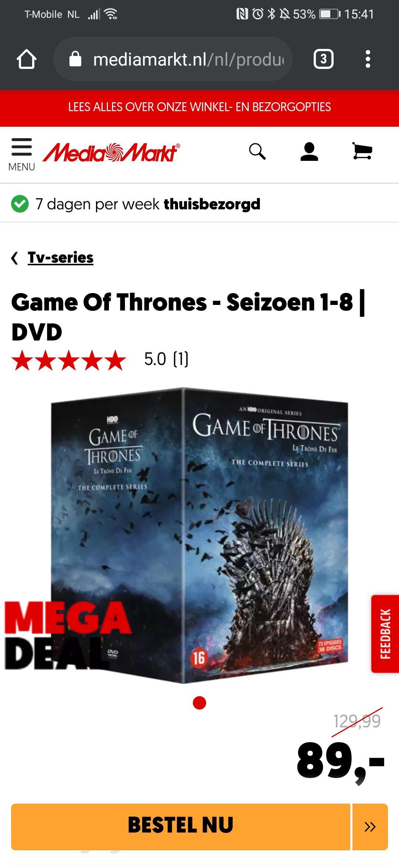 Game Of Thrones - Seizoen 1-8 DVD
