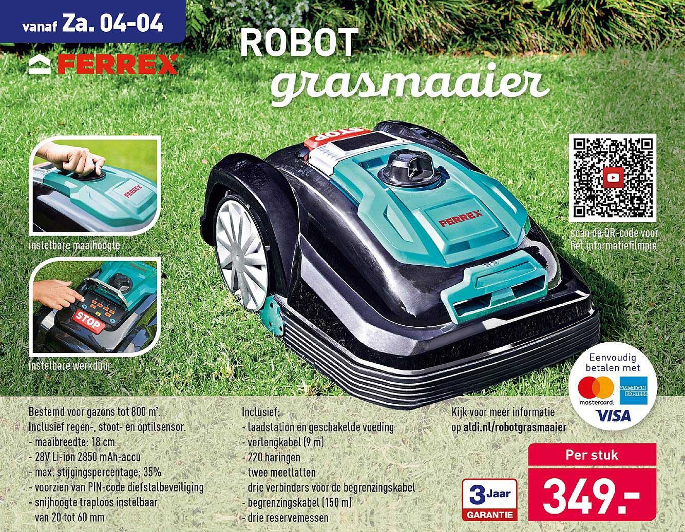 Ferrex Robot grasmaaier #Aldi