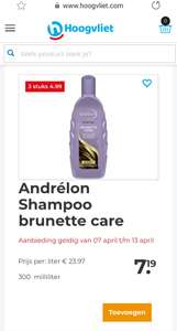 Andrelon shampoo en conditioner 3 voor 4.99