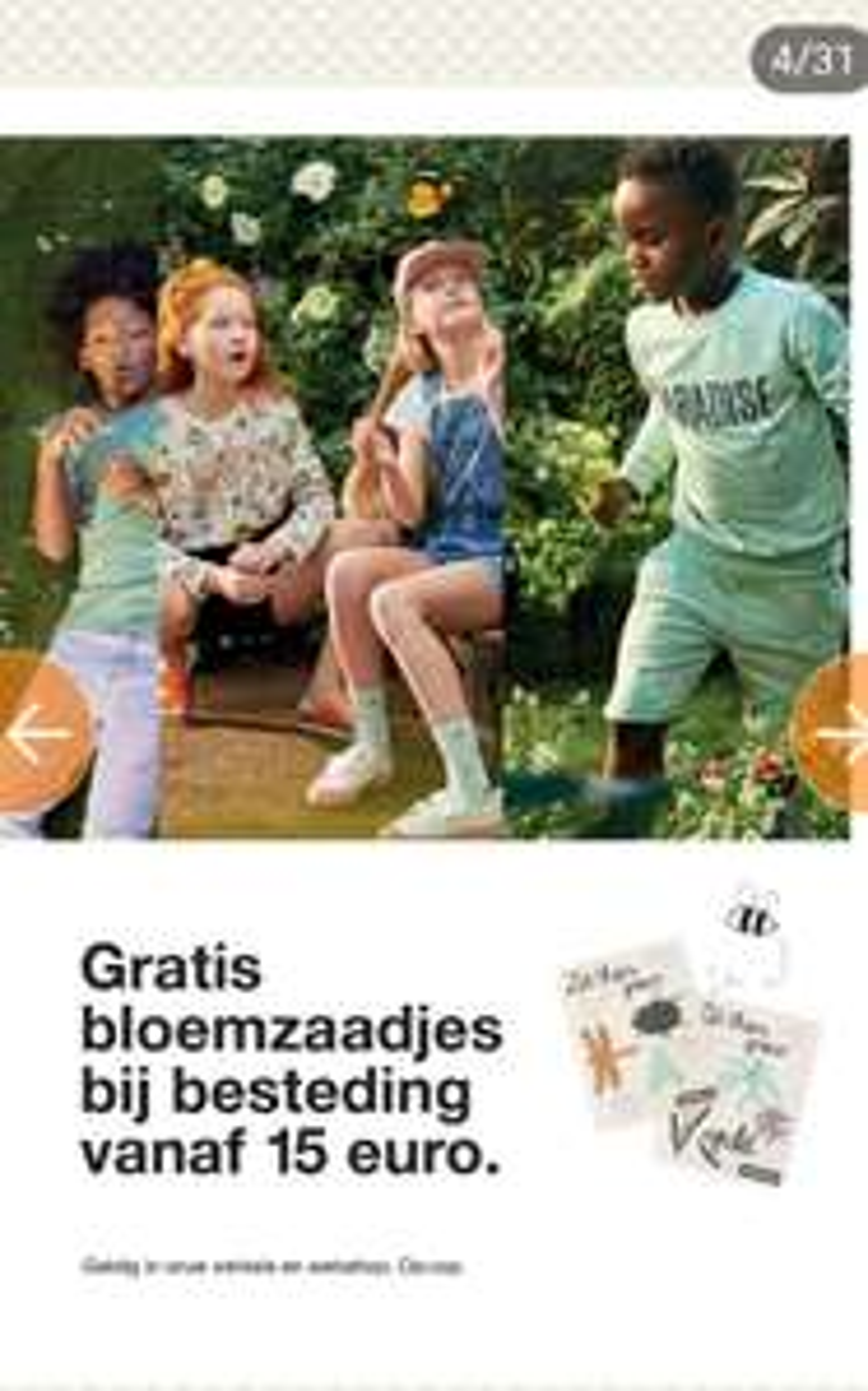 Vanaf zaterdag: Bij besteding van 15€ gratis bloemzaadjes @zeeman