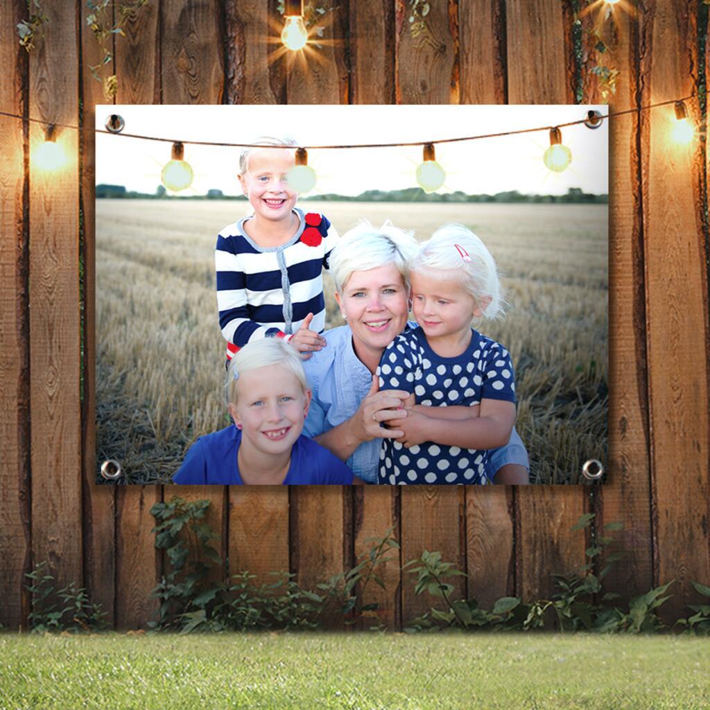 Eigen foto op tuinposter 80x60 voor €9,95 incl. verzending t.w.v. €7,50