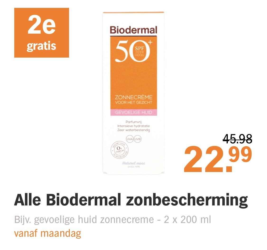 Biodermal zonnecrème 2e gratis