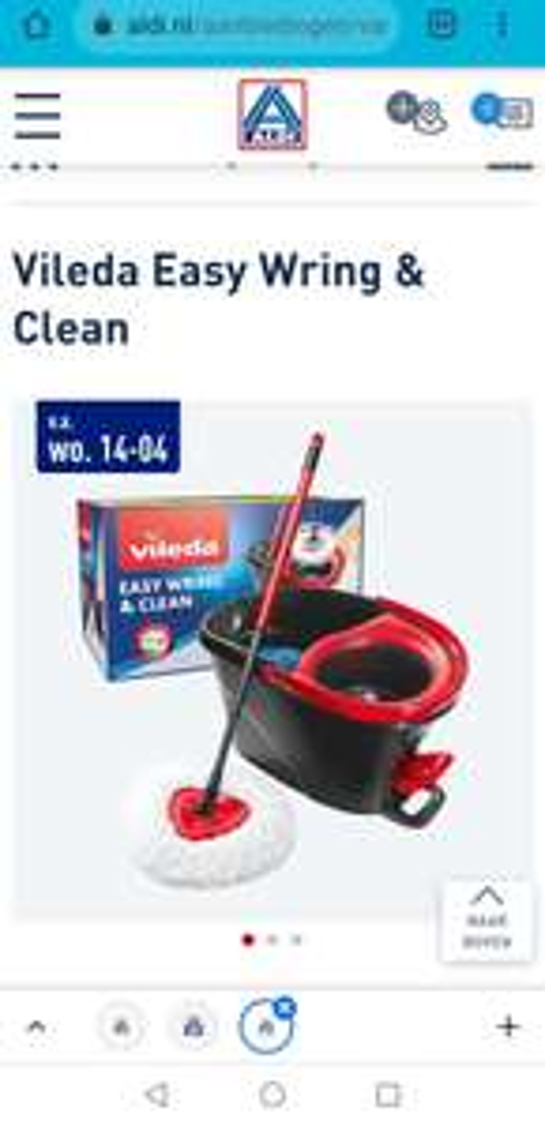 Complete set Vileda easy wring & clean