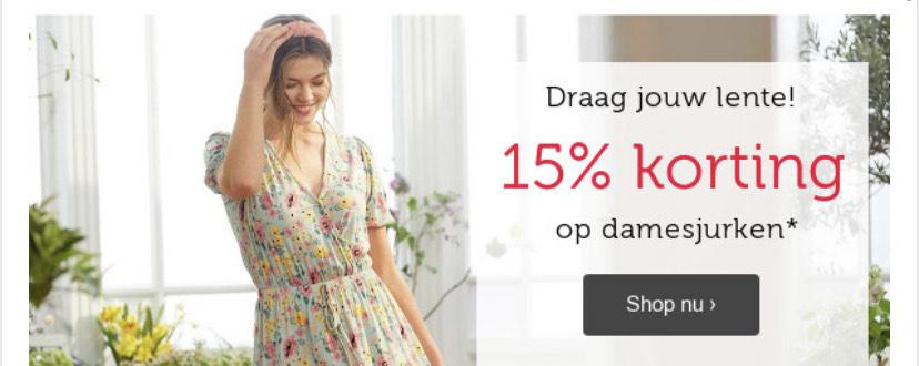 15% korting op damesjurken •Bon Prix•