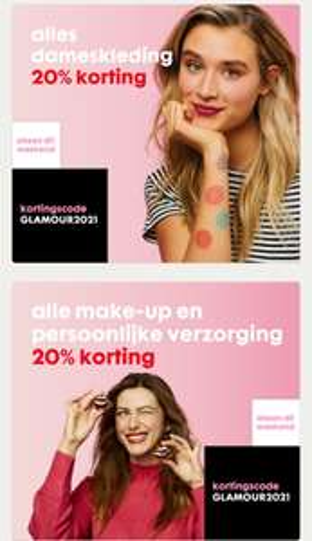 HEMA Alle dames mode en make-up 20 procent korting