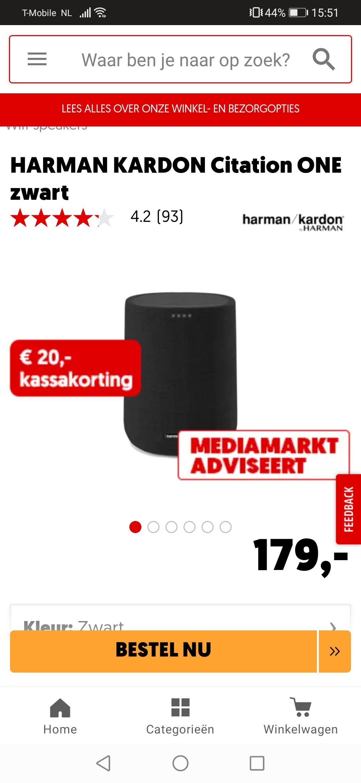 Harman kardon citation one voor 149 euro