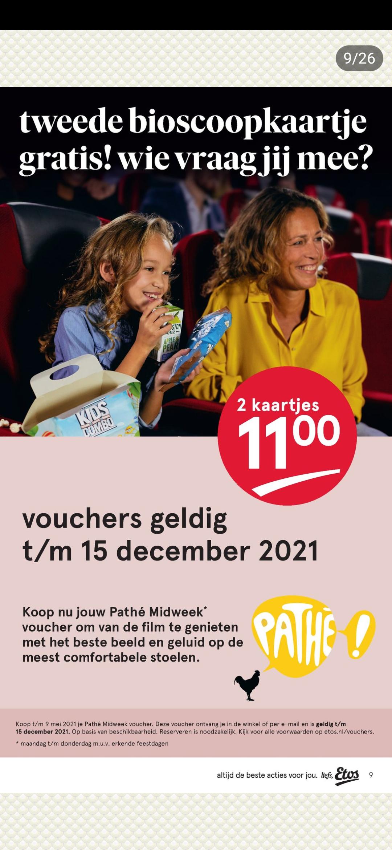 Etos: 2e Pathé bioscoopkaartje gratis!