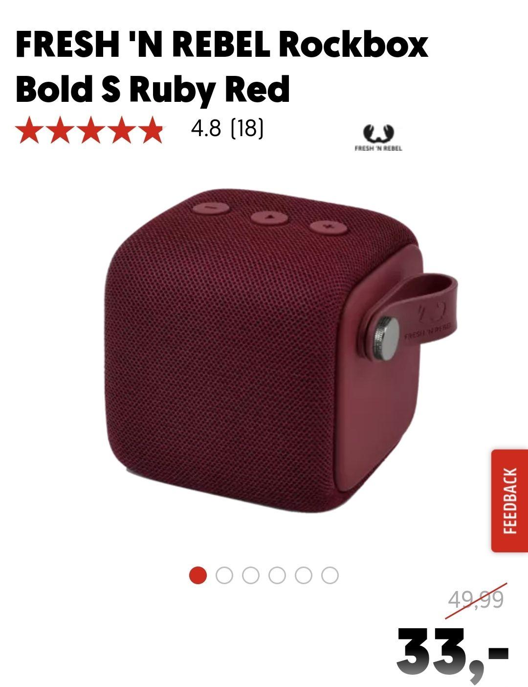 FRESH 'N REBEL Rockbox Bold S Ruby Red