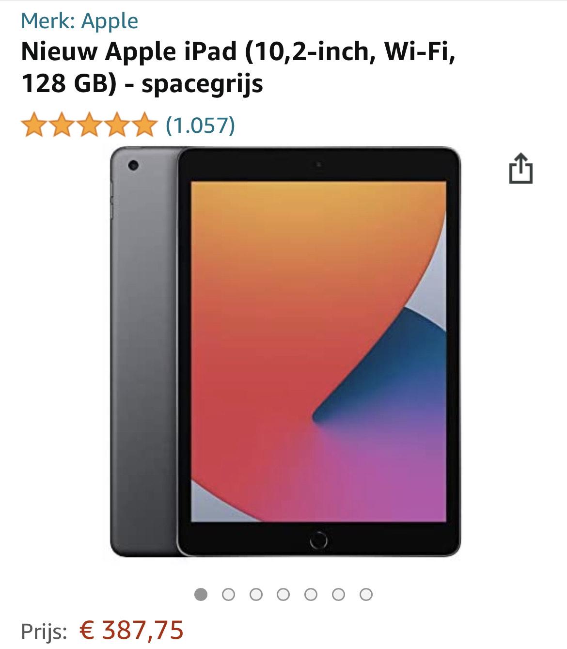Apple iPad 2020 10.2 inch 128GB Spacegrijs bij Amazon.nl