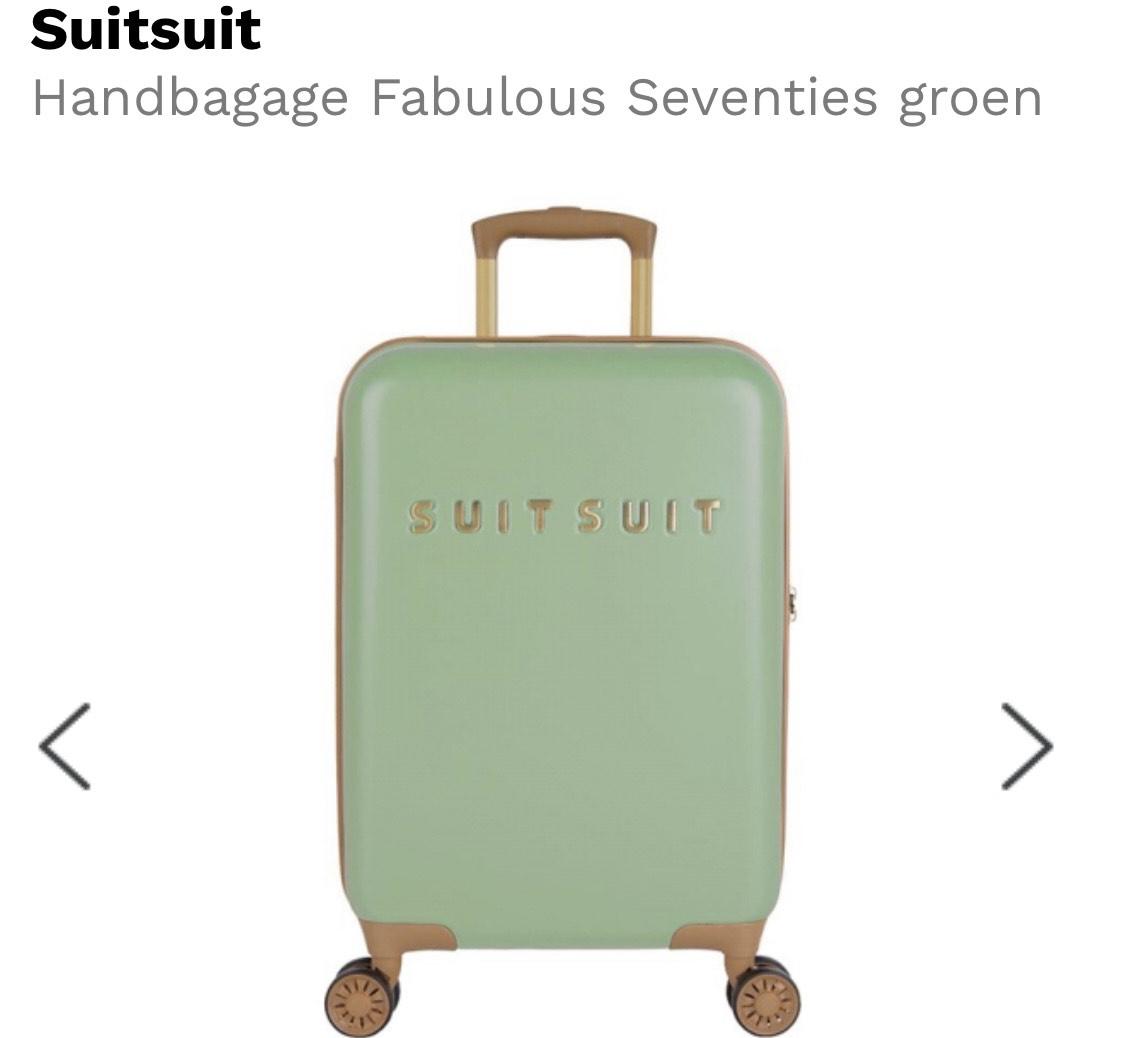 Handbagage Fabulous Seventies groen - 55 cm
