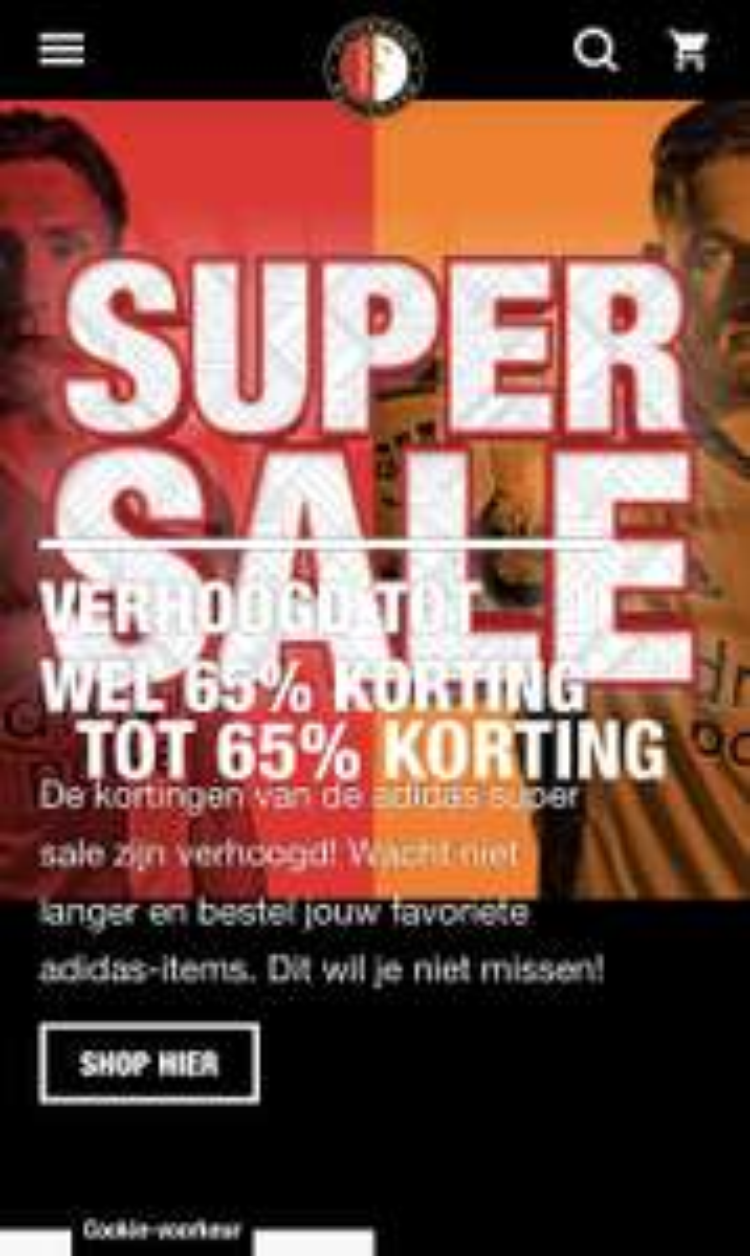 Feyenoord Supersale t/m 65% korting