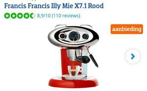 Francis Francis Illy Mie X7.1 Rood