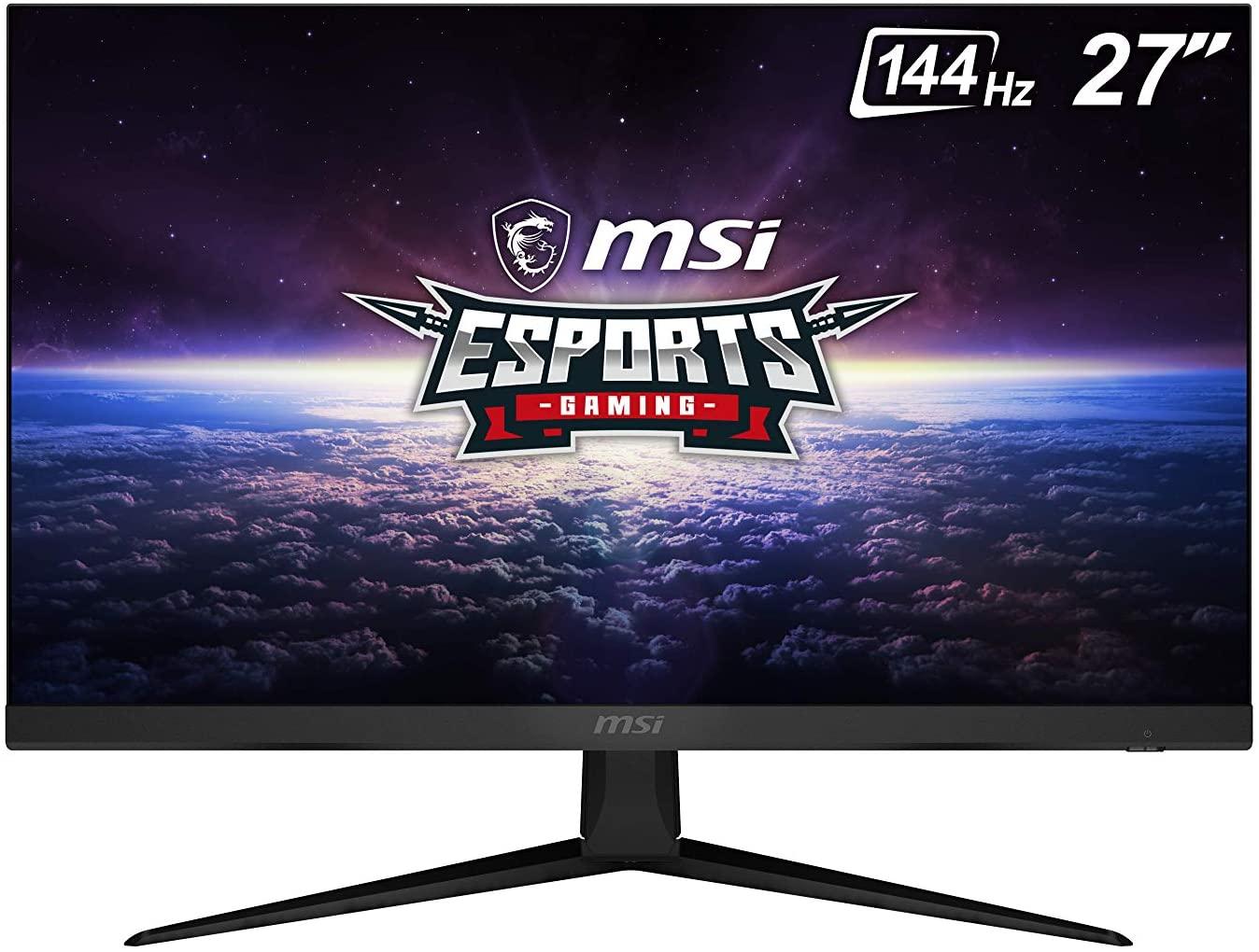 MSI Optix G271 Gaming-monitor, 27 inch, FullHD 144 Hz (IPS-paneel, verhouding 16:9, AMD FreeSync, 1 ms reactie)