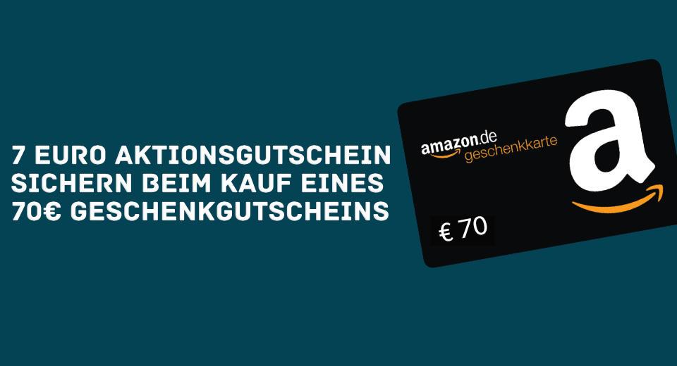 €7 Amazon-waardebon bij aankoop €70 Amazon.cadeaubon