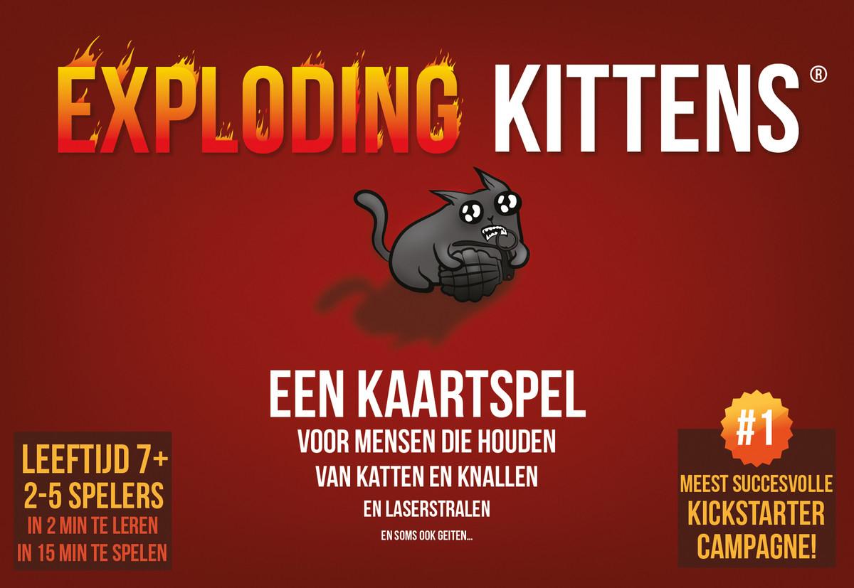 Exploding kittens €14, 99 (Gratis verzending met prime)
