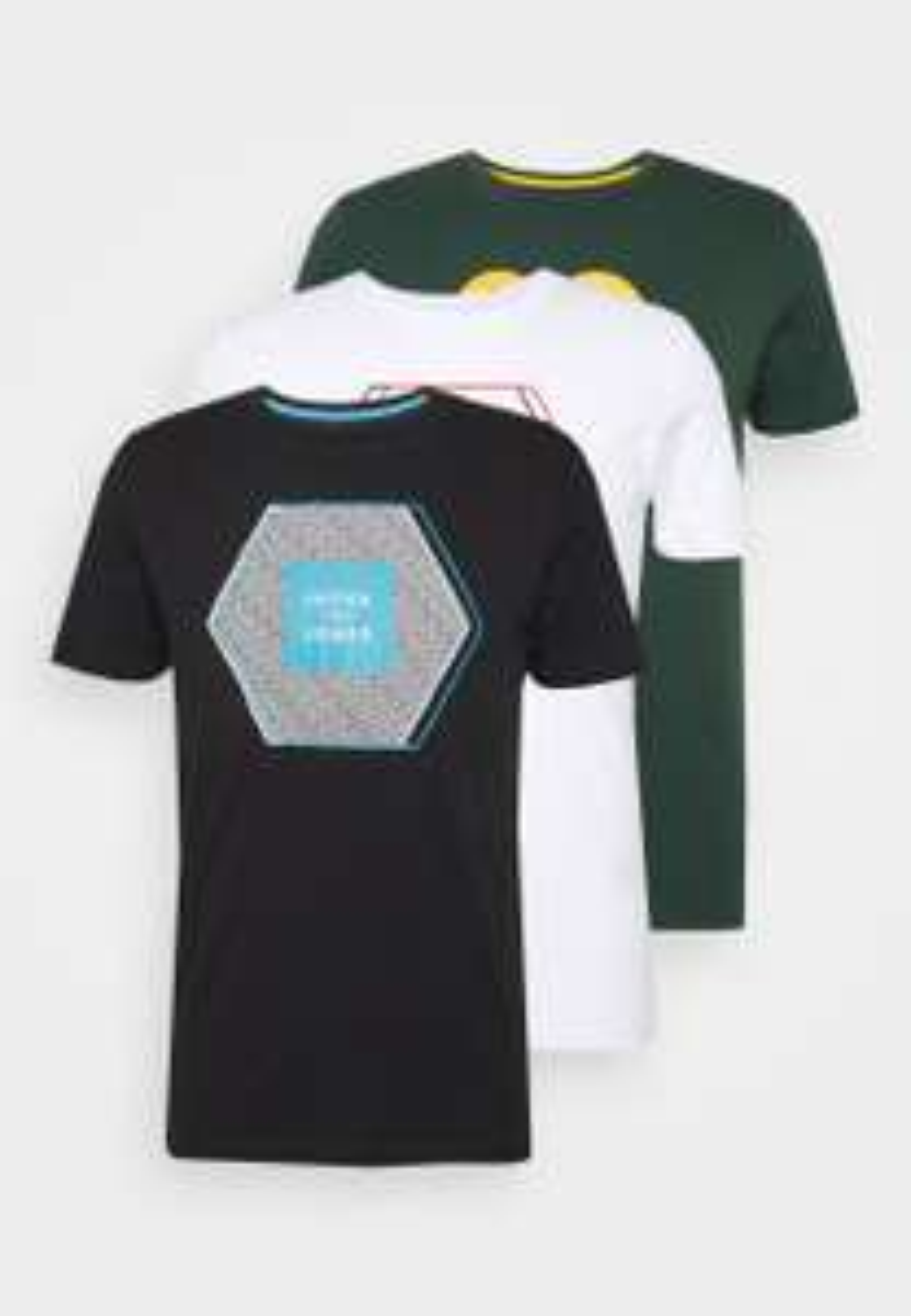 JACK & JONES JCOBOOSTER TEE SS AUG 20 3-PACK heren t-shirt