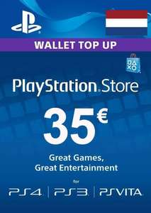 Playstation Network (PSN) card - 35 euro(NETHERLANDS)