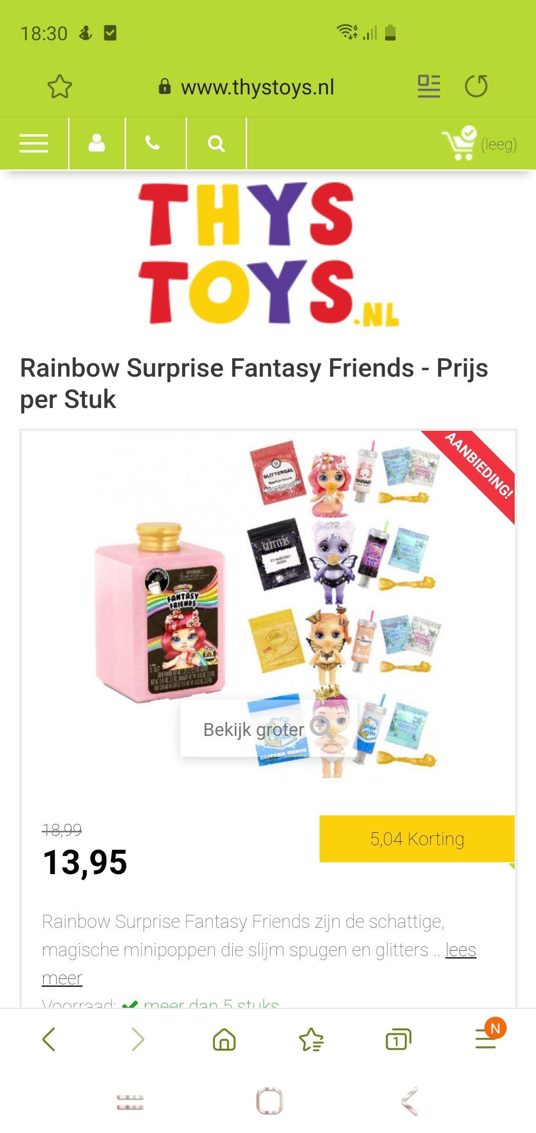 Fantasy friends nu bij Kruidvat 5.99. Elders stukken duurder. Alleen bij de Kruidvat zelf. Online ook nu