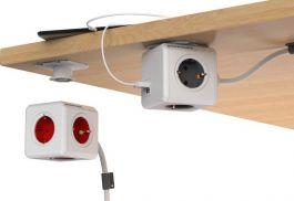 PowerCube Extended Duo USB - 1.5 meter kabel - Wit/Groen - 4 stopcontacten - 2 USB laders