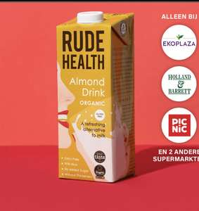 Rude Health Biologische Almond Drink (Gratis via Scoupy)
