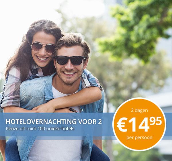 Met 2 personen overnachten voor €34,90 bij Fletcher Hotels