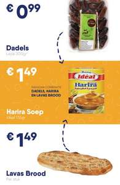 Ramadan deal: Dadels, Harira Soep en Lavas Brood voor €4 @ Mert Markt