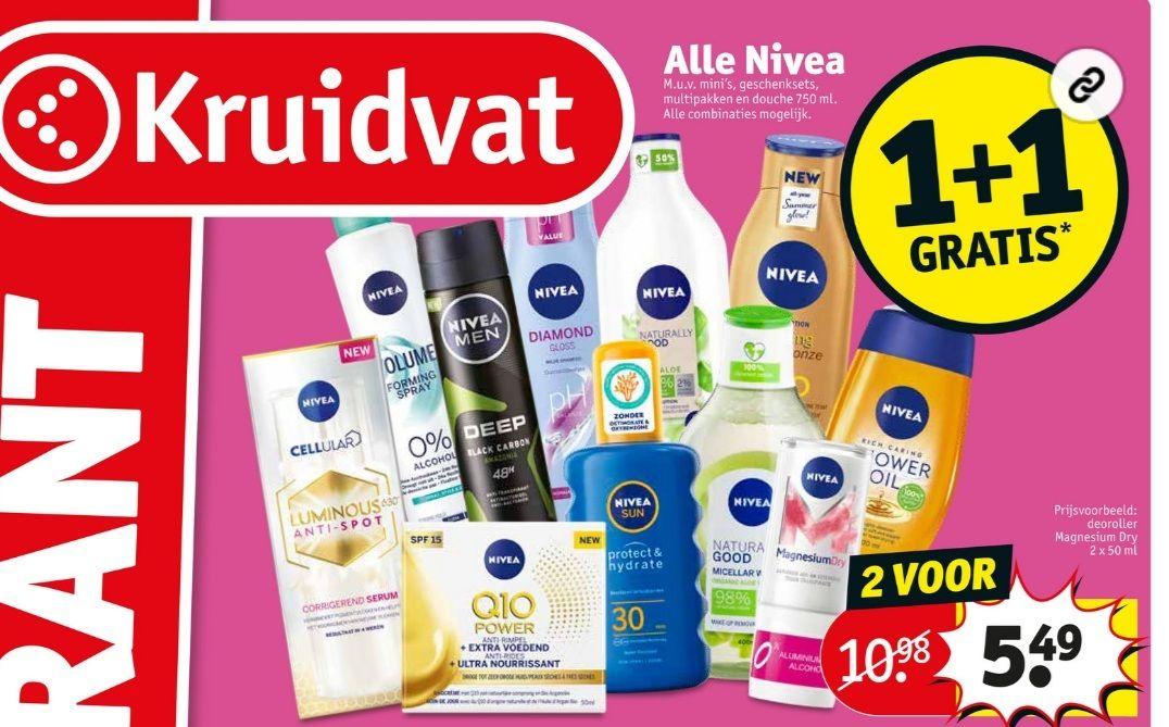 Alle Nivea 1+1 gratis | Kruidvat