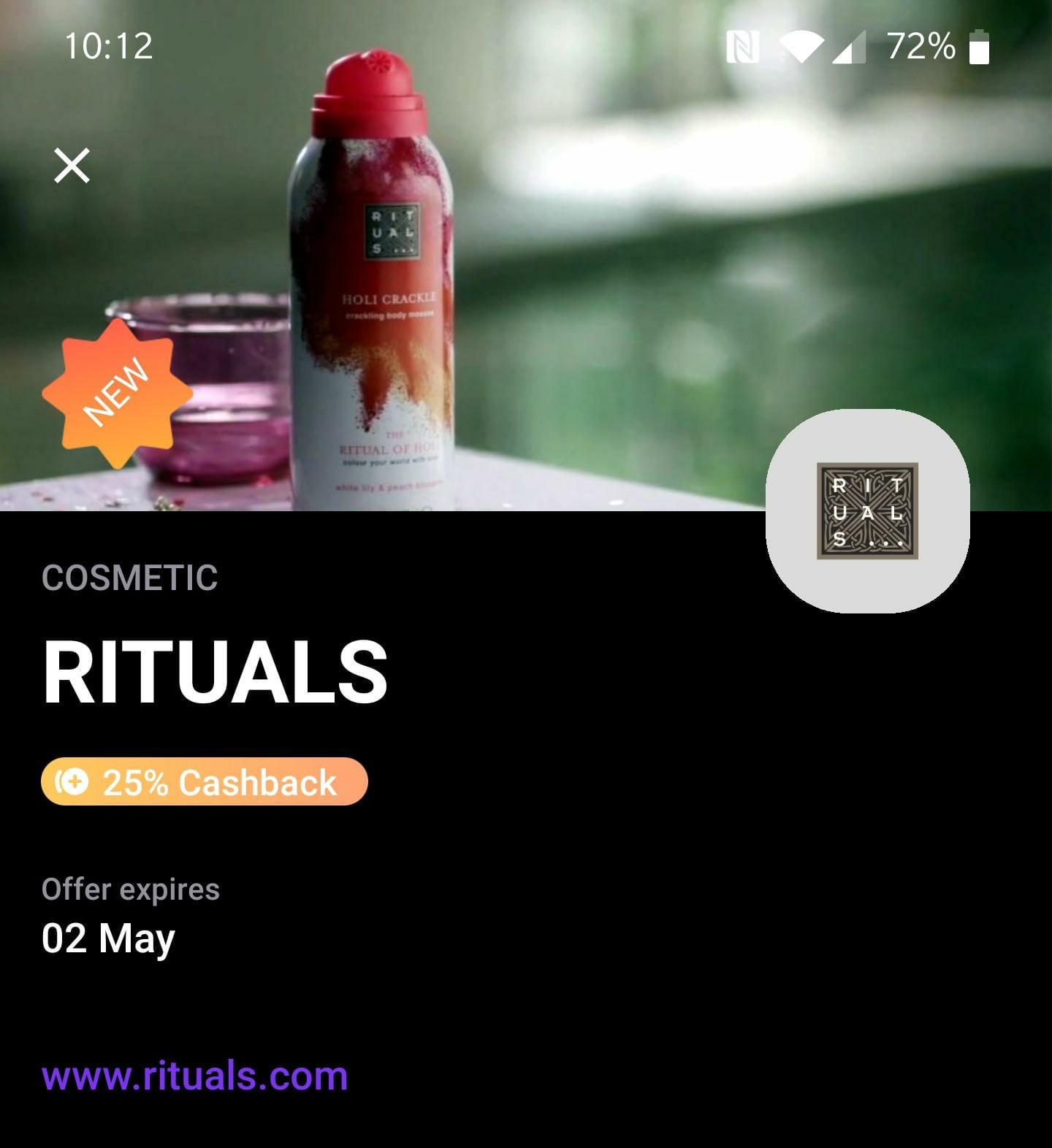 25% korting op ALLES van Rituals via Vivid!