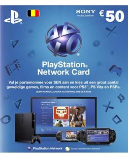 Sony Playstation Network Voucher 50 euro (België) voor €37,19 @ Dixons