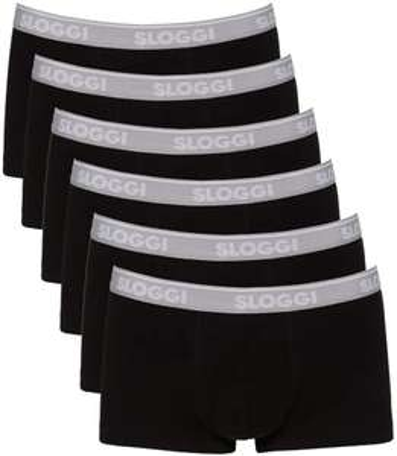 Sloggi GO ABC Hipster heren boxershorts (6-Pack) Zwart of Wit