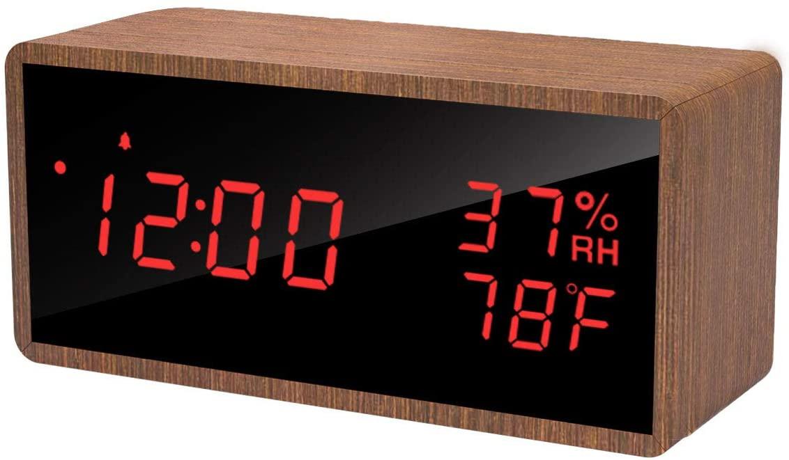 Meross digitale wekker met temperatuur/luchtvochtigheid voor €11,89 @ Amazon NL