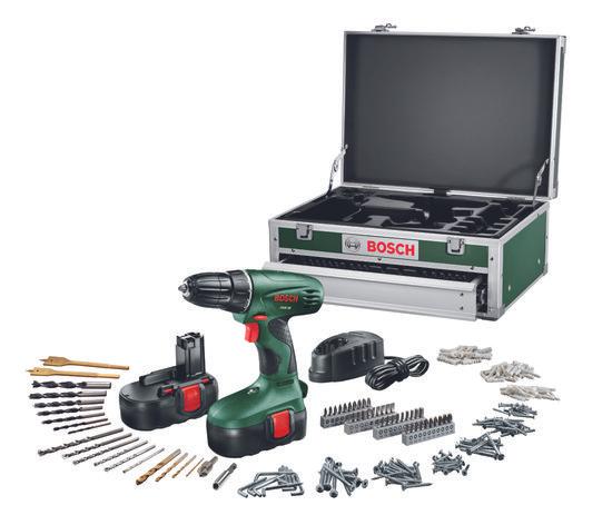 [UPDATE] Bosch PSR 18  accuboormachine (2 accu's, lader en 241-delige toolbox) voor €109 @ Bol.com