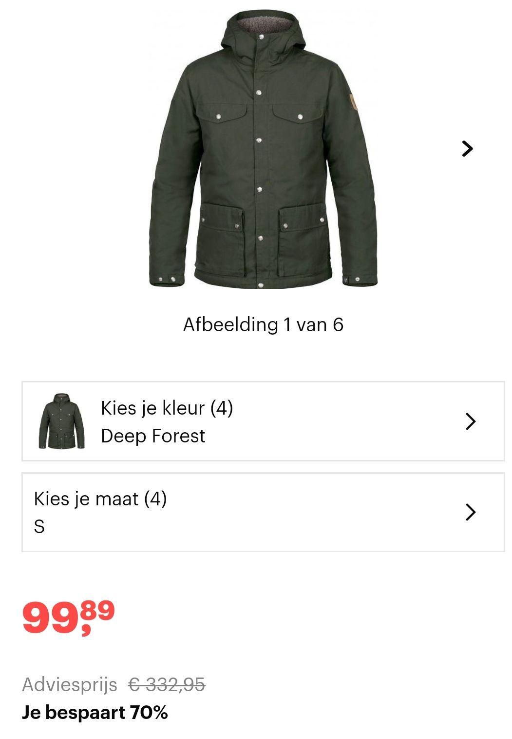Fjallraven Greenland Winter Jacket ALLEEN Maat S