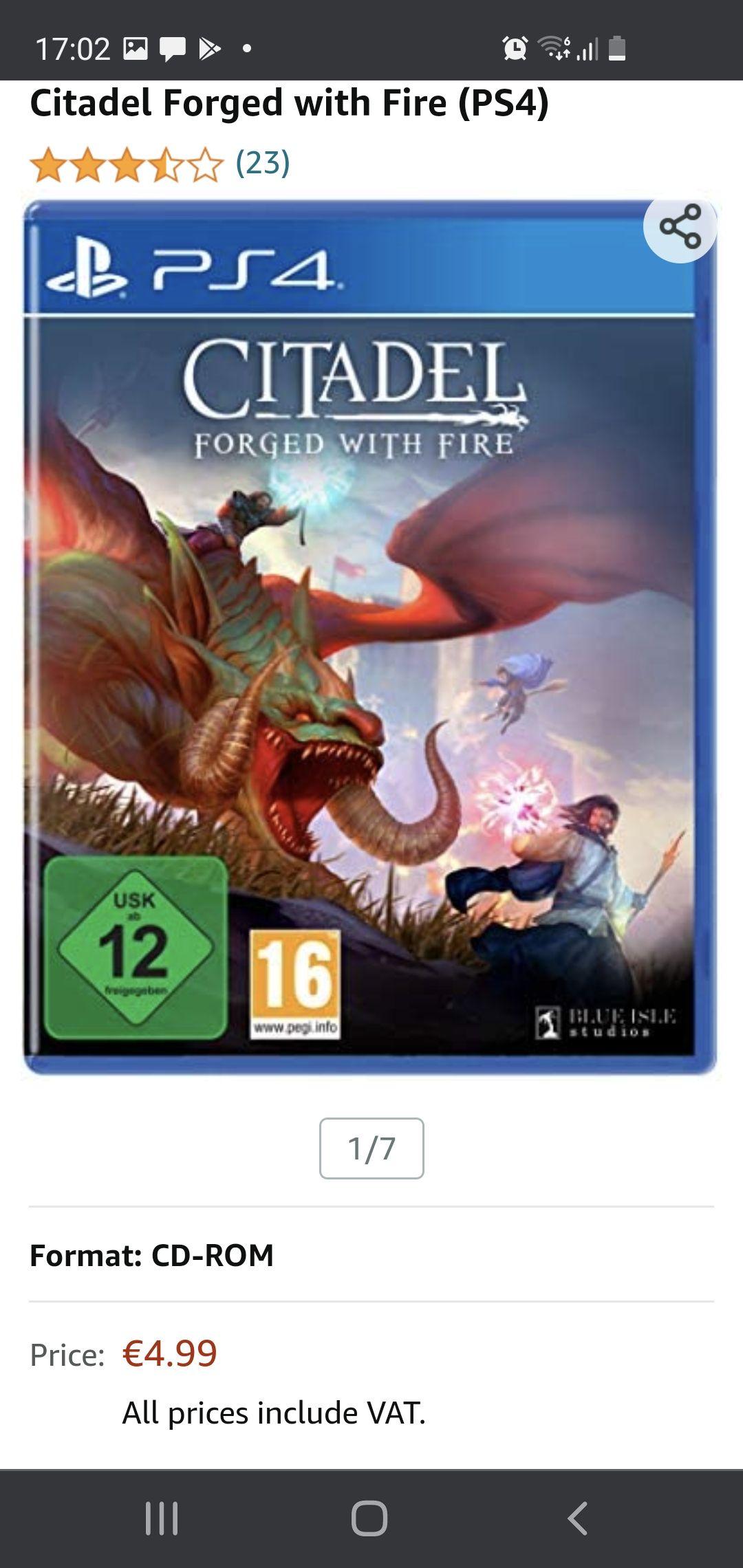 Citadel Forged with Fire (PS4) Inclusief gratis verzending