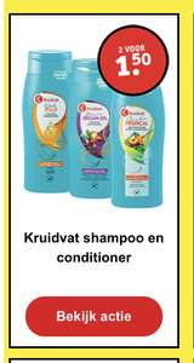 Shampoo en conditioner Kruidvat eigen merk