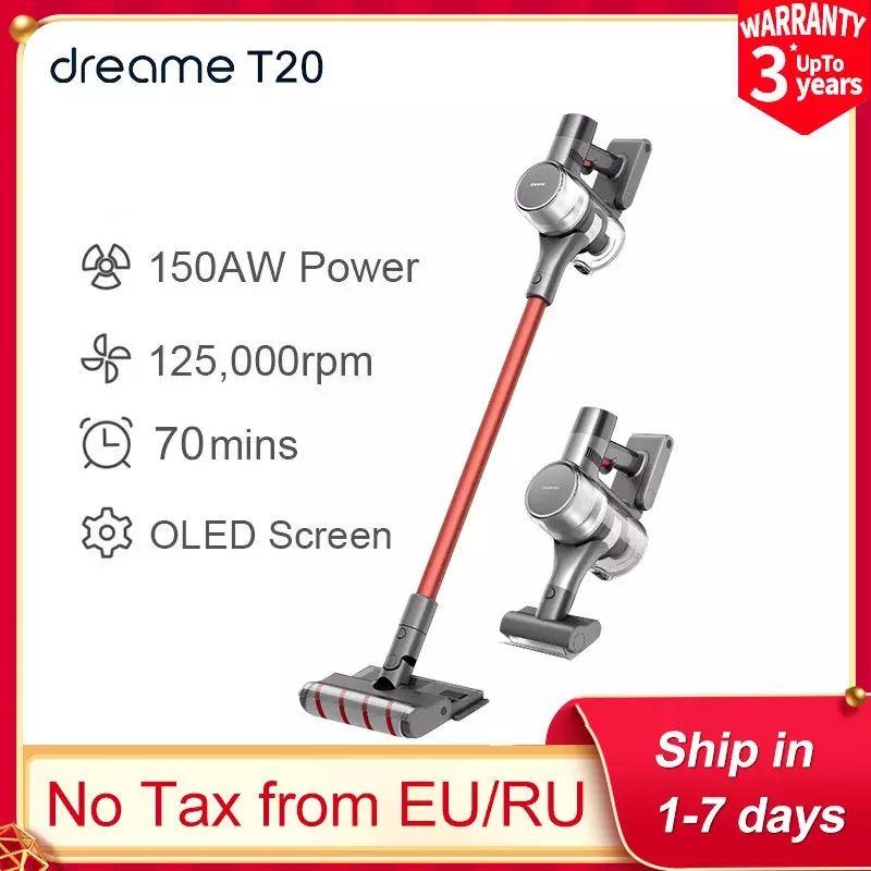 Dreame T20 Handheld Draadloze Stofzuiger Hd Full Sterke Zuigkracht All In One Stofafscheider