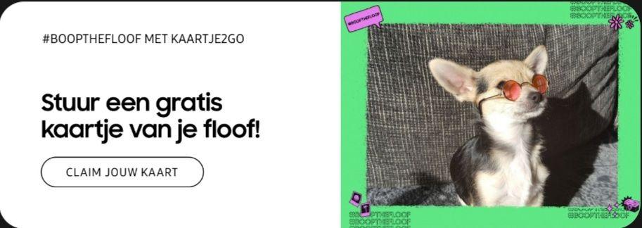 #Boopthefloof met Kaartje2go! Gratis kaart (incl postzegel)