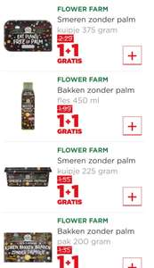 Flower Farm, smeren / bakken zonder palm. 1+ 1 gratis plus supermarkt