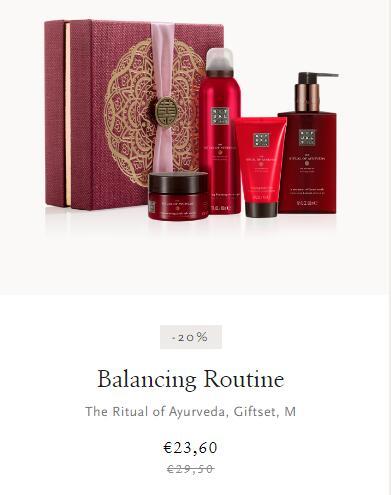 THE RITUAL OF AYURVEDA Balancing Routine