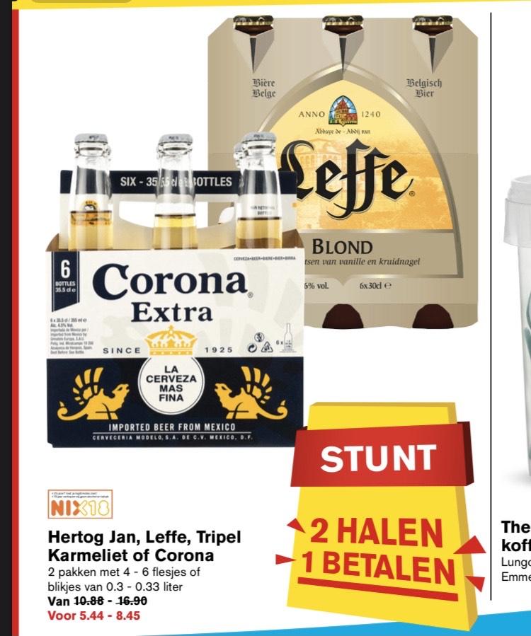 Hertog Jan, Leffe, Tripel Karmeliet of corona | 2 halen 1 betalen!