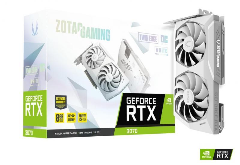 Zotac VGA - Nvidia GeForce - RTX 3070 Twin Edge OC White Edition 8GB