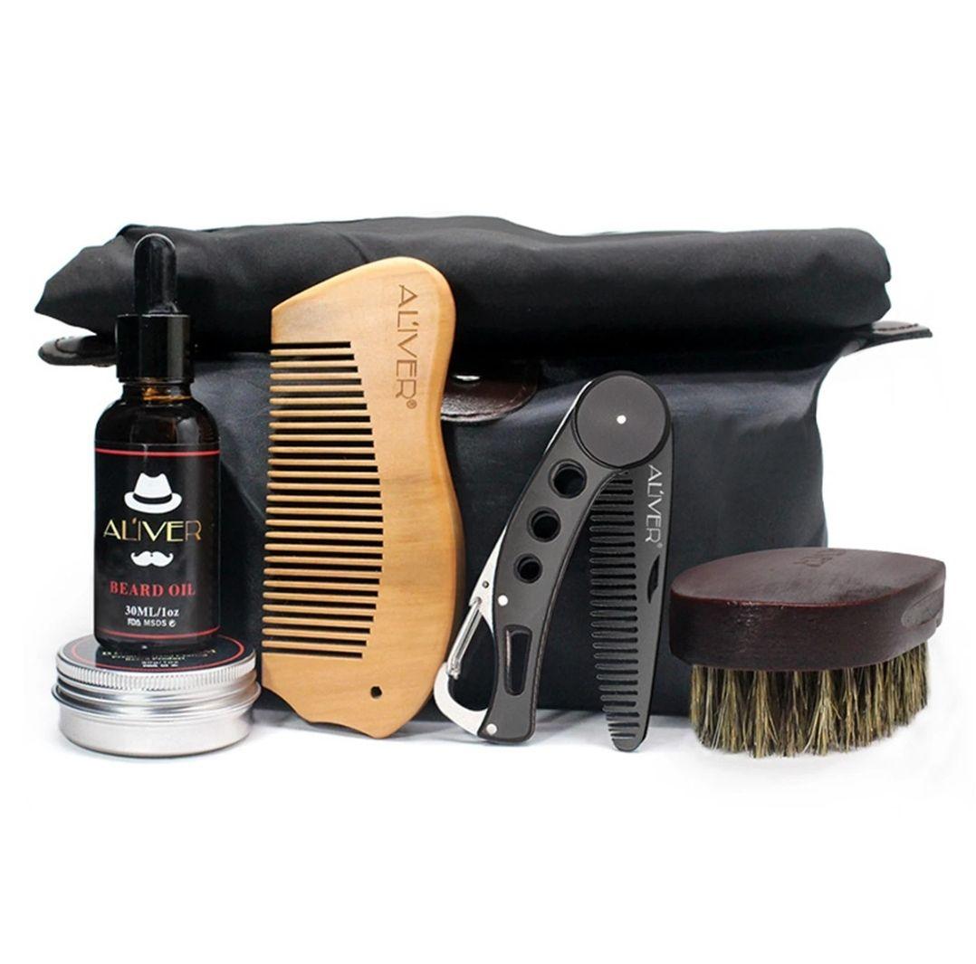 7 Stks Baardverzorgingsset Tool Set Snor Grooming