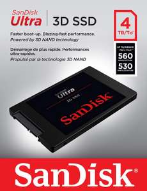 Sandisk Ultra 3D 4TB SSD @Amazon