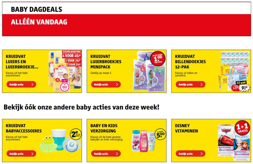 Babydagdeals bij Kruidvat - Kruidvat luierbroekjes minipack voor 1 euro maar ook andere aanbiedingen