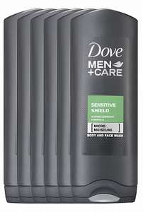 Dove Men+Care Shower Sensitive Clean 6x250ml €1,89 @drogisterij.net