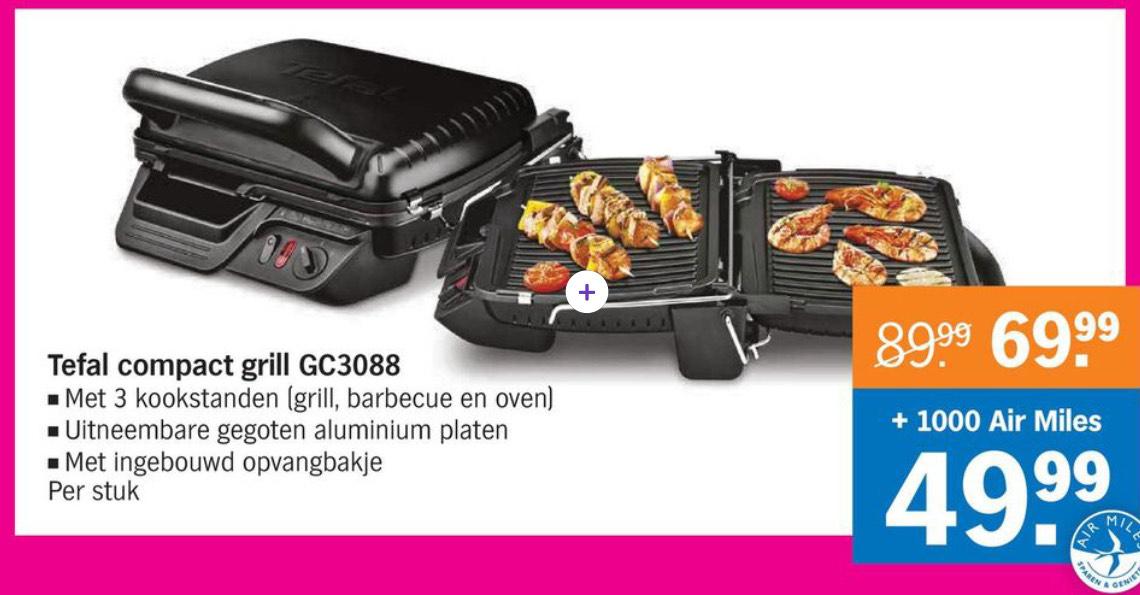 Tefal compact grill GC3088 voor €69,99 (€49,99 met 1000 Air Miles) @AH
