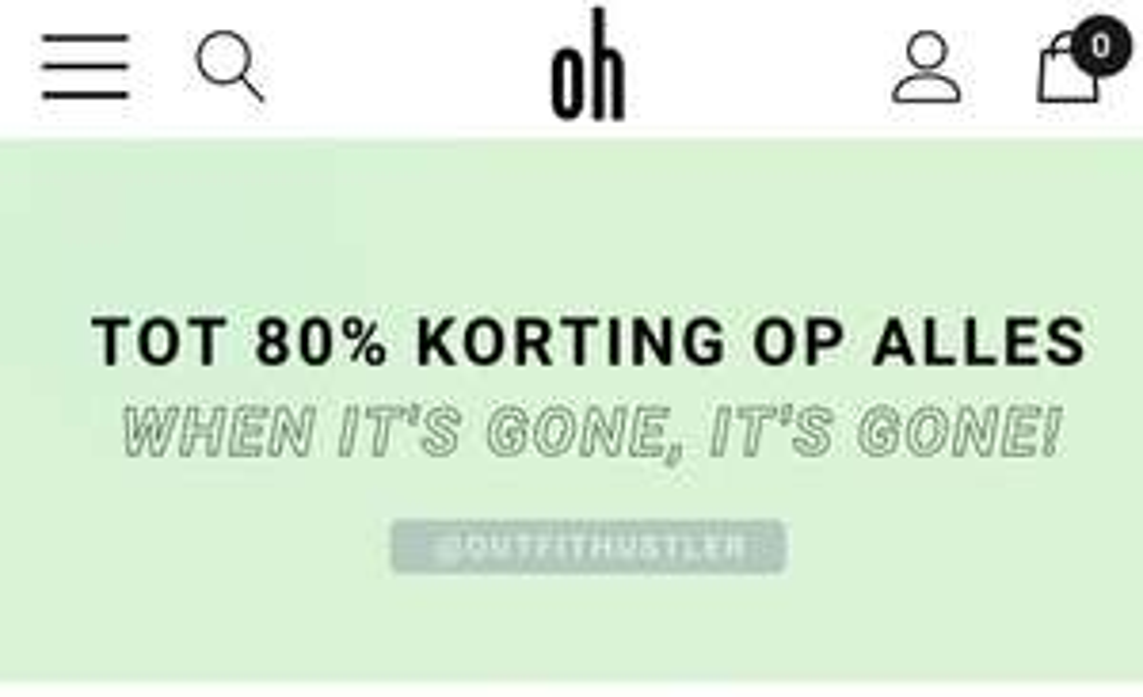 Outfithustler sale tot 80%