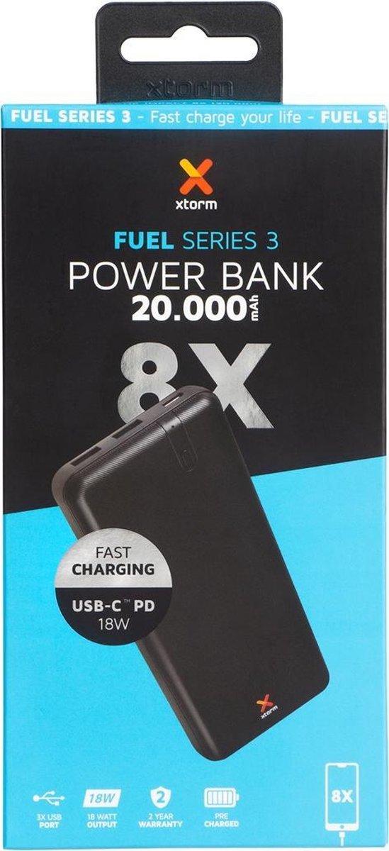 Xtorm Fuel Series 3 powerbank 20.000mah (usb-c PowerDelivery 18w) @Makro