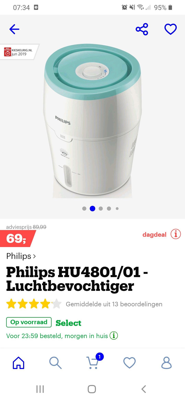 Philips luchtbevochtiger HU4801/01