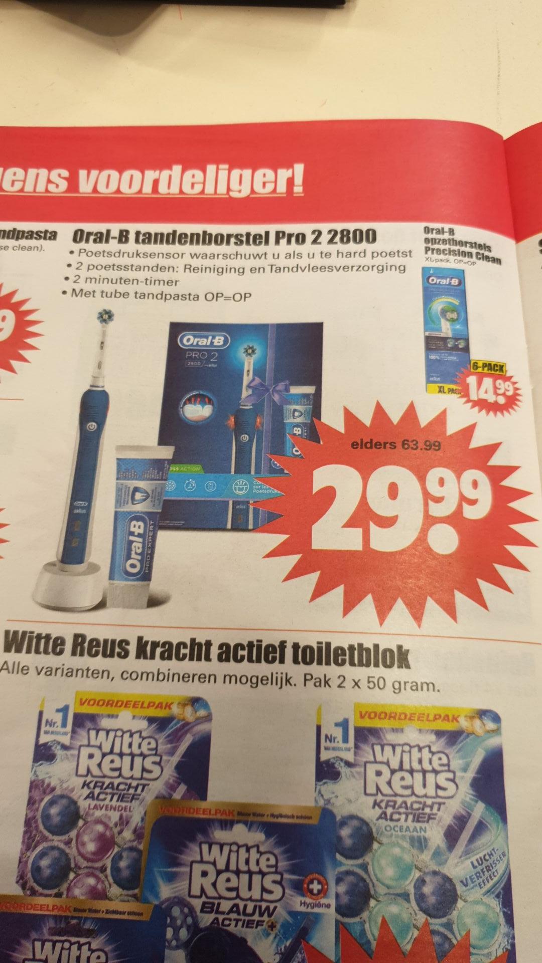 Oral b pro 2 2800 elektrische tandenborstel